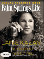 Lainie Kazan's  Palm Springs Life article